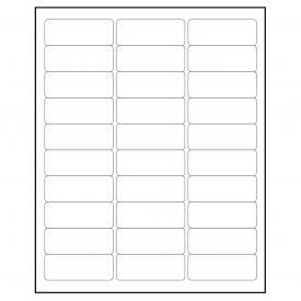 "30 up 1"" x 2-5/8"" White Shipping Label (120 Sheets, 3,600 labels) USPS UPS Mailing and Shipping"