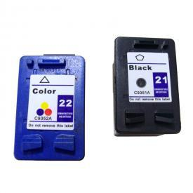 2 Pack HP21&HP22 ( HP 21/22 ) Remanufactured Cartridge,Works with ALL HP printers that use 21/22 ink cartridge