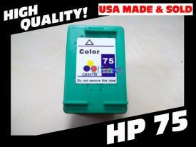 1 Pack HP75 ( HP 75 ) Remanufactured Cartridge,Works with ALL HP printers that use 75 ink cartridge