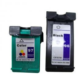 2 Pack HP96&HP97 ( HP 96/97 ) Remanufactured Cartridge,Works with ALL HP printers that use 96/97 ink cartridge
