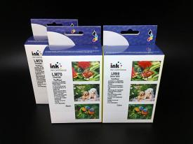 3 Pack Remanufactured Lexmark #70 (12A1970) Black*2 and Lexmark #80 (12A1980) Color Ink Cartridge