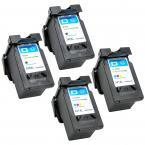 4 Pack (2x Black + 2x Tri-Color) Canon PG-240XL CL-241XL High Yield Remanufactured Ink Cartridge PIXMA MG2120 MG2140 MG2220 MG3120 MG3122 MG3220 MG3222 MG3520 MG3620 MG4120 MG4140 MG4220 PG240 CL241