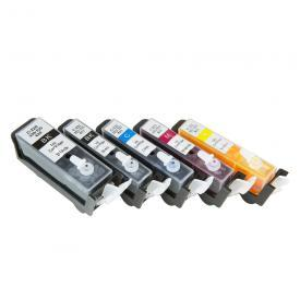 5 Pack Replacement CISS Continuous Inking System Cartridges For Canon PGI-220 CLI-221 Cartridge MP560 MP620 MP990 MP640 MX860 MP980 iP3600 iP4600 iP4700