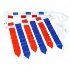 36 Flags & 12 Belts - Velcro Flag Football Set - 18 Red Flags & 18 Blue Flags