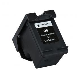 1 Pack HP98 ( HP 98 ) Black C9364W Remanufactured Cartridge,Works with ALL HP printers that use 98 ink cartridge