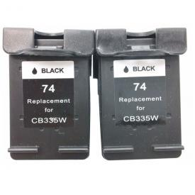 2 Pack HP74 ( HP 74 ) Remanufactured Cartridge,Works with ALL HP printers that use 74 ink cartridge