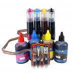 [Continuous Ink Supply System with Ink Bottle Set] For HP 564 XL Deskjet 3520 3526 3521 3522 OfficeJet 4620 4622 Photosmart 5522 5525 5514 5512 5515 5510 5520 5511 6515 6512 6510 6520 B209a B210a HP564 HP564XL CISS CIS 4 Color
