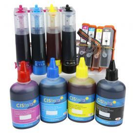 Continuous Ink System for HP920 HP920XL Office Jet 6000, 6000A, 6500,7000 7500,7500A with INK BOTTLE SET CISS CIS B