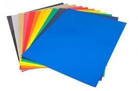 "CISinks 15 Sheets 12""x10"" ASSORTED COLOR DIY PVC Heat Transfer Vinyl for Shirts"