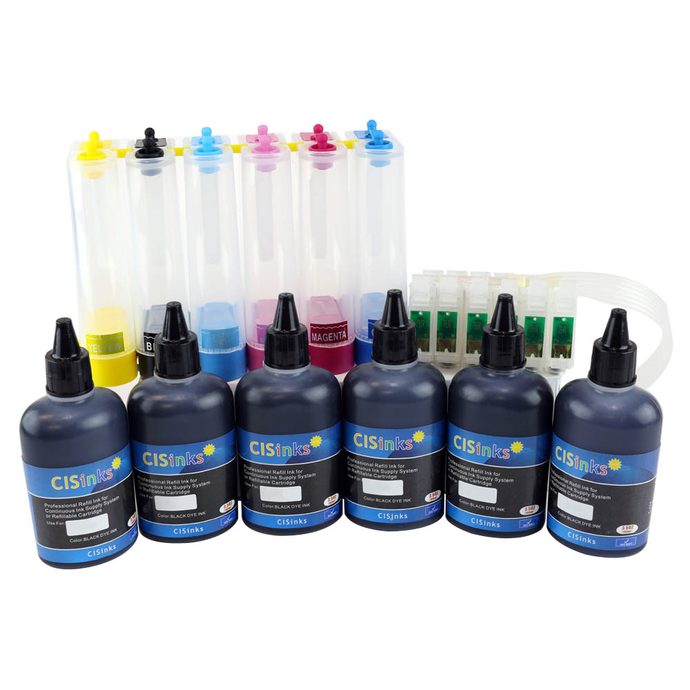 Continuous Ink System for HP 02 Photosmart C5140 C5150 C5175 C5180